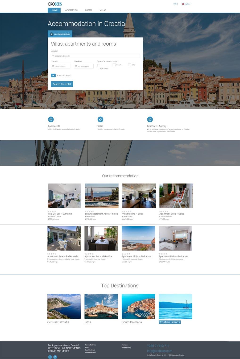 Luketina.com portfolio turistička agencija Crobeds