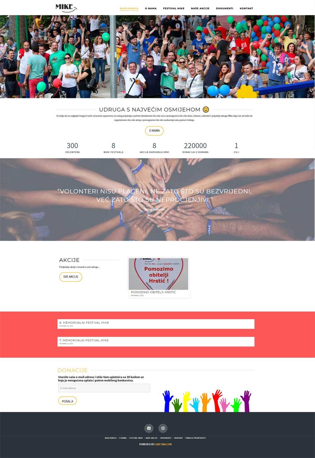 Luketina.com portfolio udruga Mike Makarska